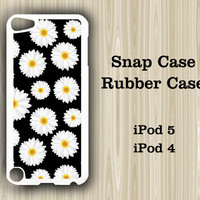 Sunflower Pattern  iPod Touch 5 and iPod Touch 4 Rubber Case or Plastic Case