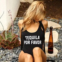 Tequila Por Favor One Piece Swimsuit