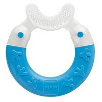 MAM Baby Toys, Teething Toys, Bite & Brush Teether, Boy, 3+ Months, 1-Count