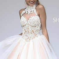 Short Lace Party Dress by Sherri Hill 21193