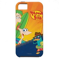 Phineas, Ferb and Agent P Surf iPhone 5 Case from Zazzle.com