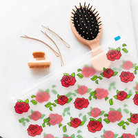 UO Rose Zip Cosmetics Pouch - Urban Outfitters