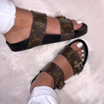 Louis Vuitton LV woman/ Men's slippers