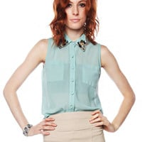 Papaya Clothing Online :: BEADS & SEQUIN TRIMMED COLLAR BLOUSE
