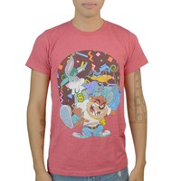 Looney Tunes Party Time Men's Red T-shirt
