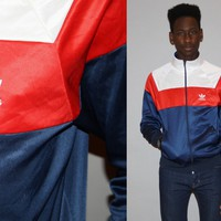 Vintage 1980s Adidas Red White and Blue Tri Color Trefoil Warmup Gym T – Vanguard Vintage Clothing
