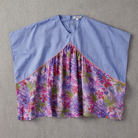 Nellystella Claudia Dress in Denim and Pink Topical - N15S002-LT - FINAL SALE