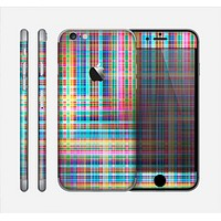 The Neon Faded Rainbow Plaid Skin for the Apple iPhone 6