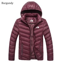 The North Face Winter New Lightweight Jacket Down Jacket Burgundy