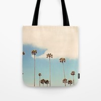 Palm trees Tote Bag by sylviacookphotography