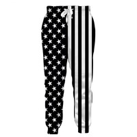 Black And White American Flag Men Jogger Pants Track Sweatpants