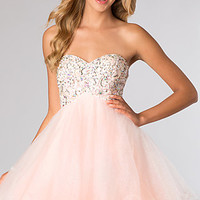 Strapless Baby Doll Dress by Alyce Paris