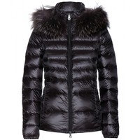duvetica - nefele down jacket with fur-trimmed hood