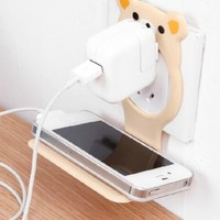 Cartoon mobile phone charging cradle charging rack bracket mounts (Beige)