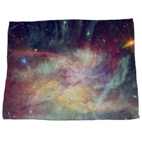 Painted Rainbow Galaxy Nursery Colorful Soft Unique Fleece Blanket