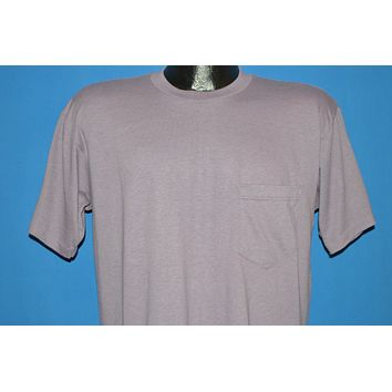 80s Blank Purple Front Pocket t-shirt Large