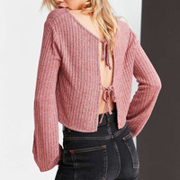 Kimchi Blue Jessie Tie-Back Cropped Sweater - Urban Outfitters
