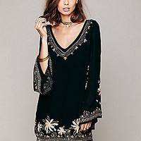 Free People  Skyfall Embroidered Tunic at Free People Clothing Boutique