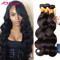 Body Wave Bundles Brazilian Hair Weave Bundles Human Hair Bundles Non Remy Hair Extensions Mslynn Hair 1 or 3 Bundles Available