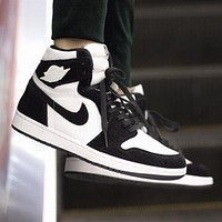 Air Jordan 1 High WMNS AJ1 Men and women personality versatile high-top shoes