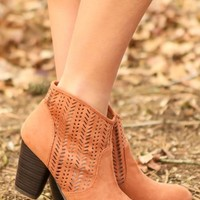 A Cut Above The Rest Booties-Rust