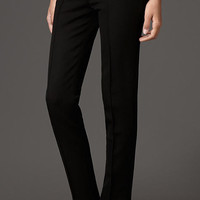 Stretch Virgin Wool Pintuck Tailored Trousers