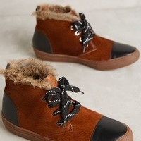 Hoss Intropia Calf Hair High-Tops in Tobacco Size: