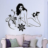 Wall Stickers Vinyl Decal Hot Sexy Naked Attractive Gorgeous Girl Unique Gift (ig961)
