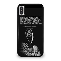 QUOTE INSPIRATION TUPAC 2PAC iPhone 5/5S/SE 5C 6/6S 7 8 Plus X/XS Max XR Case Cover