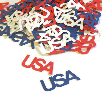 USA Confetti - Patriotic Party Decor - 100 Pieces
