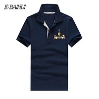 summer style men collar polo shirt men clothing solid mens polo shirts business casual cotton