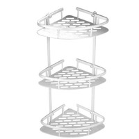 3-Tier Shampoo Basket Shower Shelf Bathroom Corner Rack Storage Holder Hanger for Towels, Soap, Lotion (Screws Included)