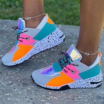 New Leopard Print Daddy Shoes Fashion Ladies Sneakers