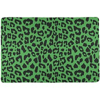 Green Cheetah Print All Over Placemat