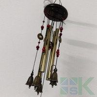 4 Tubes 5 Bells Copper Coins Wind chime Chapel Bells Wind Chimes