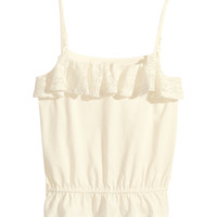 H&M Top with a lace frill 9,95 €
