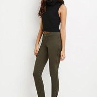 Flat Front Stretch-Knit Pants