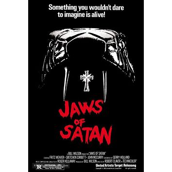 Jaws of Satan Poster//Jaws of Satan Movie Poster//Movie Poster//Poster Reprint