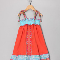 Twirls & Twigs Orange Malibu Dress - Toddler & Girls