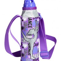 Dance Water Bottle With Strap   Girls Journals, Water Bottles & Supplies Clearance   Shop Justice