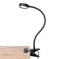 LEPOWER Clip on Light/Reading Light/Light Color Changeable/Night Light Clip on for Desk, Bed Headboard and Computers (Black) Black