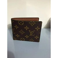 LOUIS VUITTON NEW MAN'S FOLD WALLET LEATHER BAGS