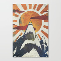 Mount Spitfire Canvas Print by happymelvin