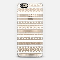 WHITE TRIBAL - CRYSTAL CLEAR PHONE CASE iPhone 6 case by Nika Martinez   Casetify