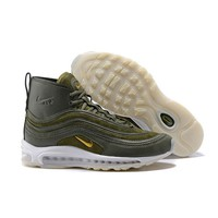 Sale Riccardo Tisci x Nike Air Max 97 Mid Army Green Sport Running Shoes