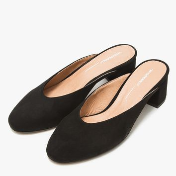 Intentionally Blank / Daisy in Black Suede