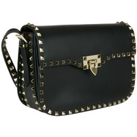 VALENTINO Black 'Rockstud' shoulder bag