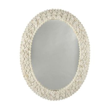 Heather Oval Wall Mirror by Worlds Away
