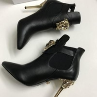 DCCK Versace  Women Casual Shoes Boots fashionable casual leather Women Heels Sandal Shoes