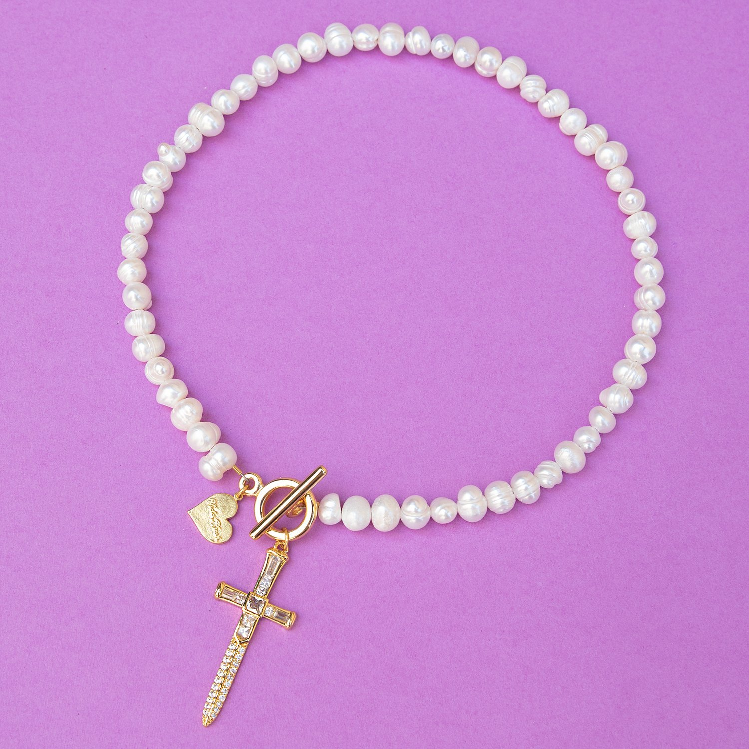 Image of Pearl Toggle Dagger Necklace